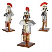 Miniature Roman Legionaires Armour Set With Sword On Display Stand